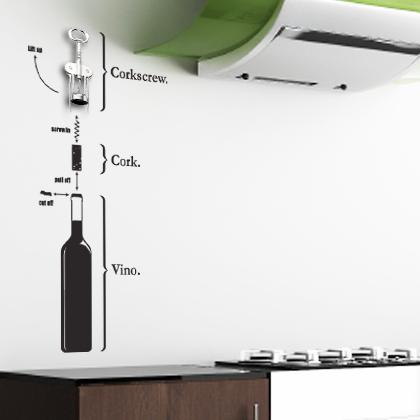 Trang trí phòng bếp với Decal dán tường