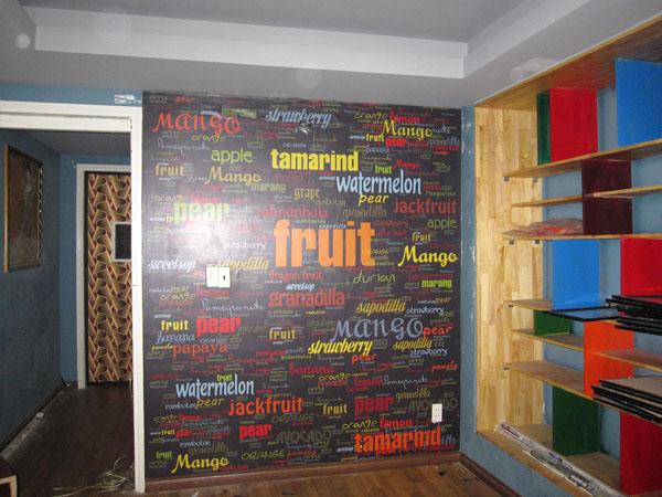 Nghệ thuật chữ Cafe Fruit