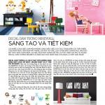 Decal NINEWall trên tạp chí Nội Thất số 191 ngày 1-10-2013