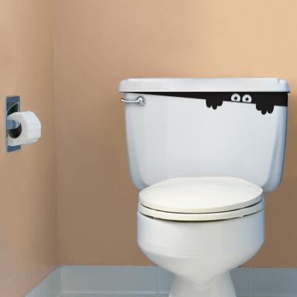 Đưa sự hài hước vào không gian phòng tắm với Decal Dán Tường
