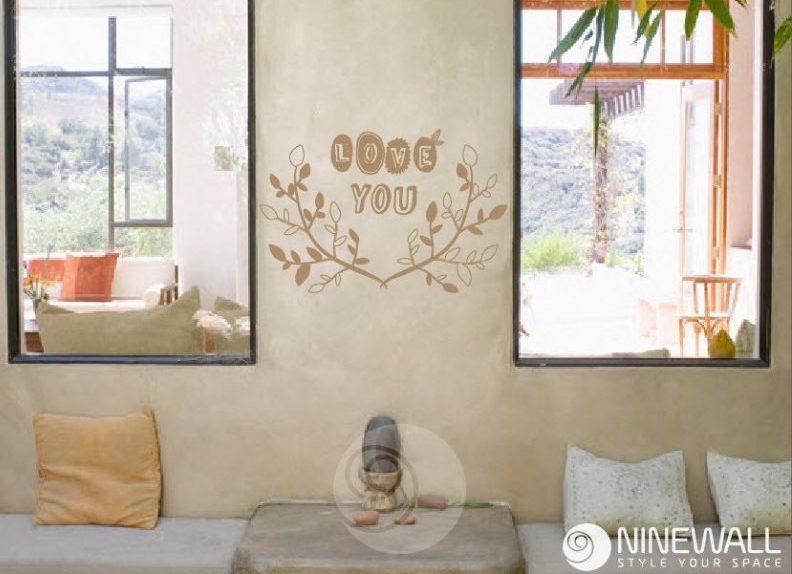 9 mẫu decal tình yêu cho tường nhà thật ngọt ngào