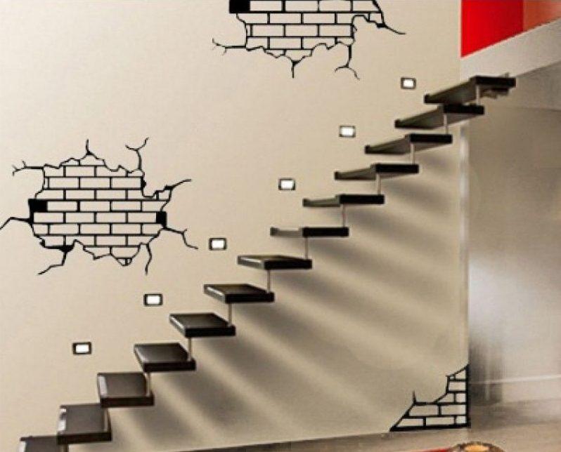 biến tấu cho tường nhà với decal nội thất