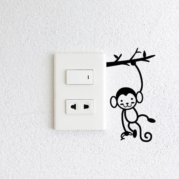 decal ổ cắm điện vui nhộn