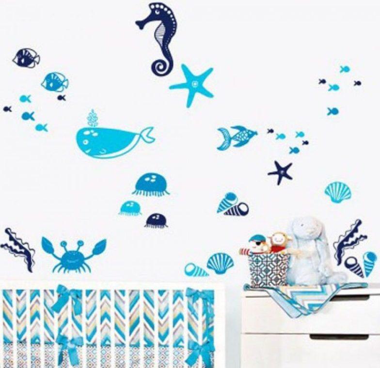 decal dại dương xanh bé thỏa thích khám phá thế giới biển
