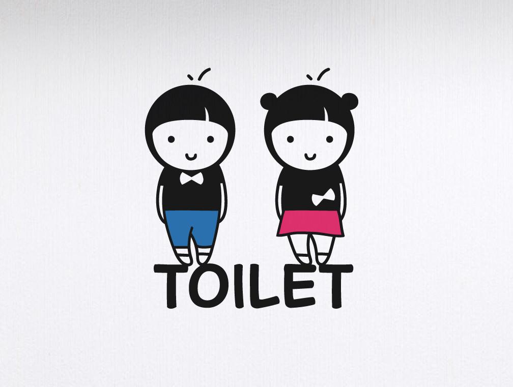 decal trang trí vệ sinh