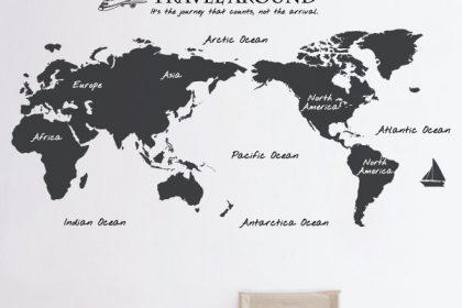 decal dán tường bản đồ