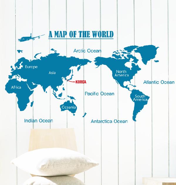 thật cá tính với mẫu decal bản đồ du lịch