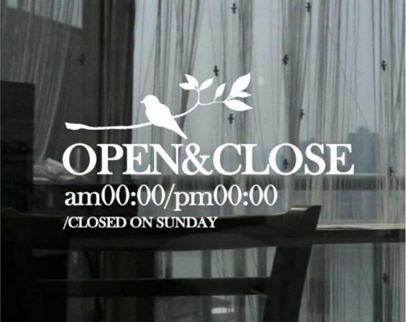 decal open close đâu chỉ là thông báo