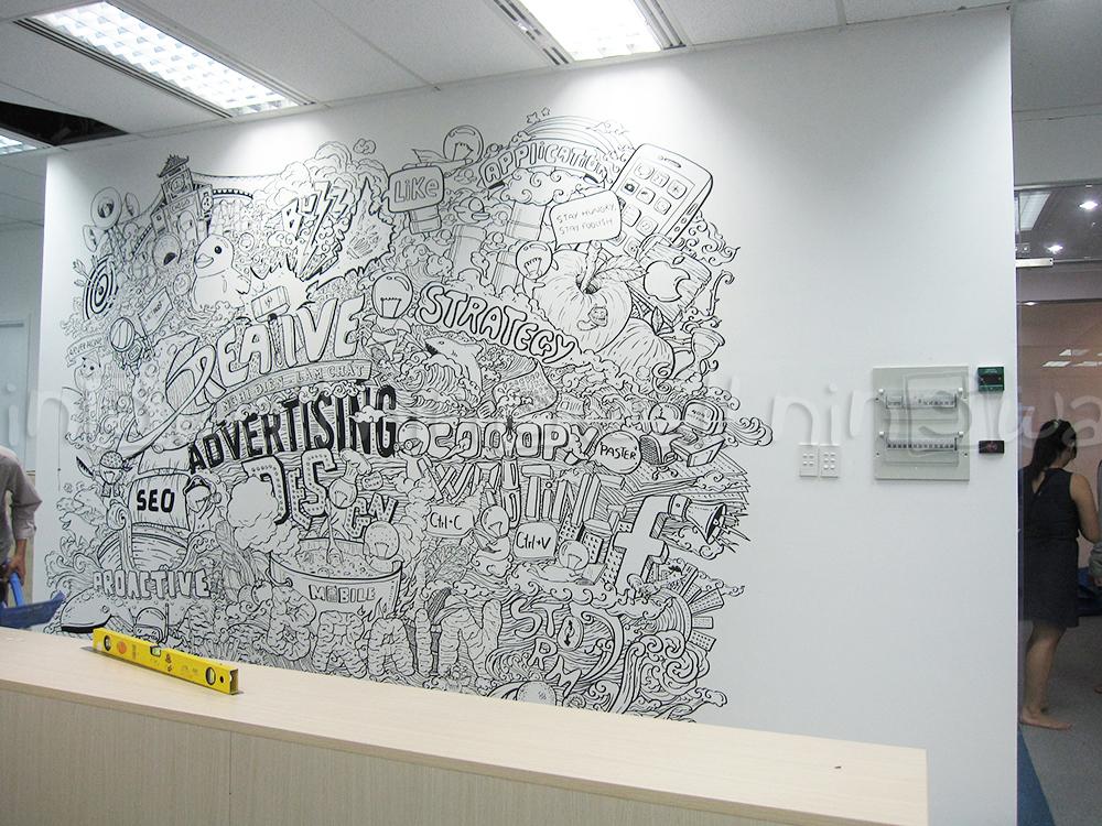 Decal dán tường văn phòng