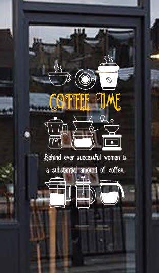 decal dán tường cafe