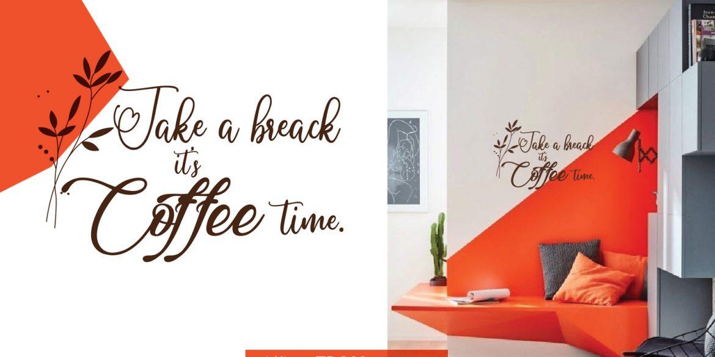 Ngộ nghĩnh và đáng yêu cùng với coffee dán tường và dán kính.