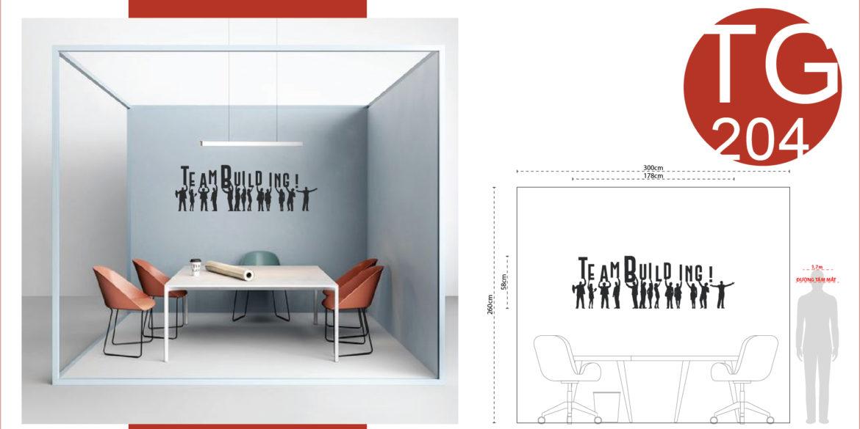 Tinh thần đội nhóm trong thiết kế decal nội thất Văn Phòng