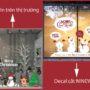 Decal Noel in trên thị trường và Decal cắt Noel NINEWall