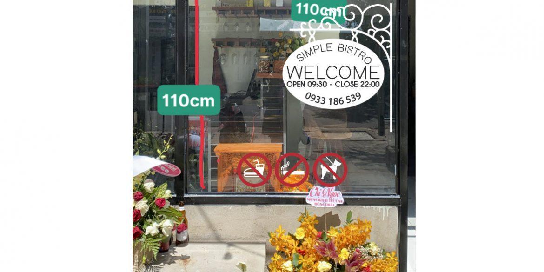 Decal shop mặt tiền thành phố Vũng Tàu