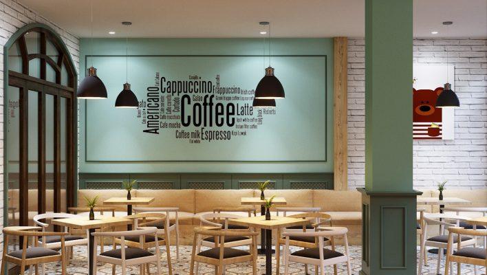 Decal coffee quán Machine Cafe Vũng Tàu.